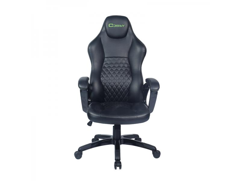 New Racing-Style Black Leather Gaming Office Chair