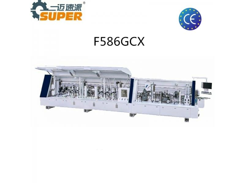 F586GCX Bevel Edge Banding Machine 45degree Automatic Edge Bander