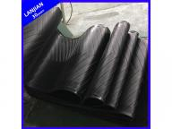 Herringbone Pattern Rubber Conveyor Belt Heat/Oil/Acid&Alkali Resistant ISO Certificate