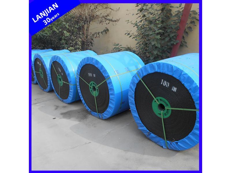 Antistatic Flame Resistant PVC Pvg Coated Rubber Conveyor Belt