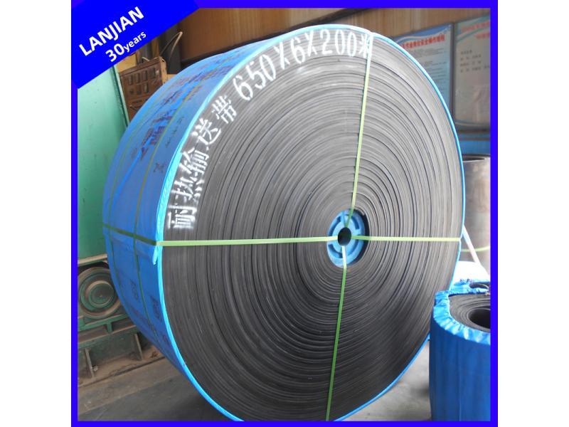 Ee/Ep Heat-Resistant Rubber Flat Conveyor Belting Used in Cement Factory