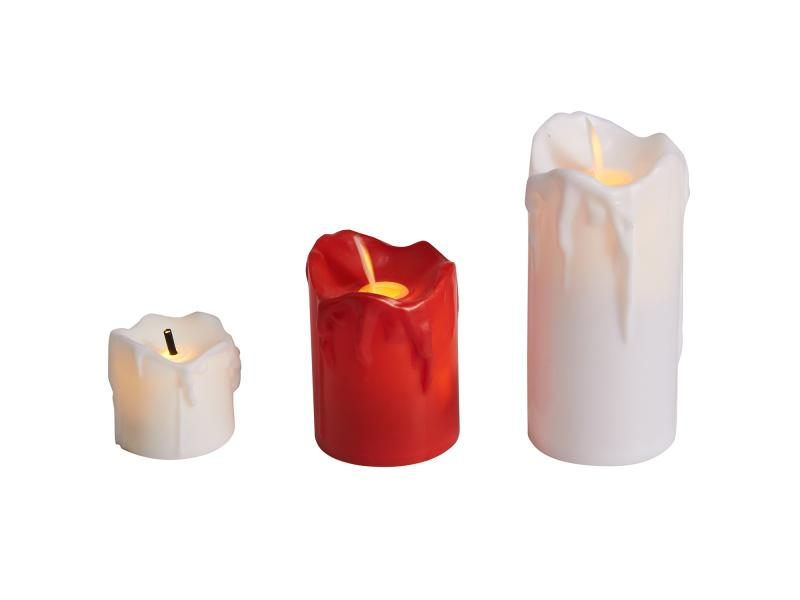 Wholesale Flame Moving LED Candle of Plastic Material  for Parties