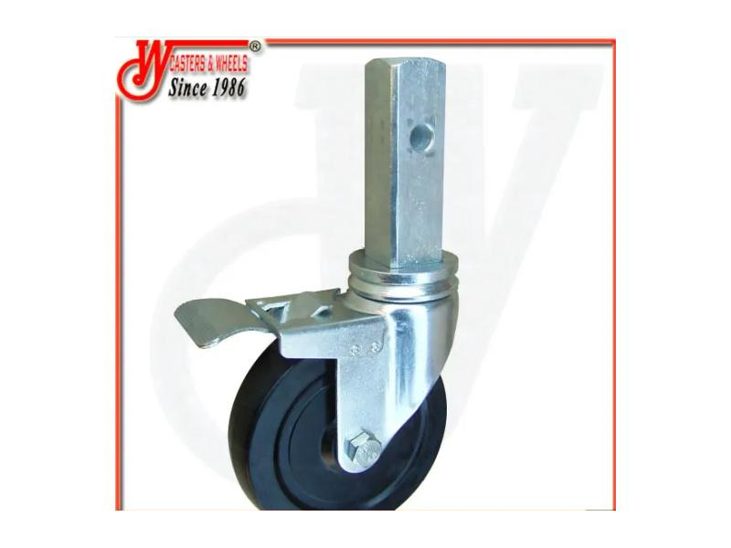 5 Inch Hard Rubber Scaffolding Casters with Total Lock Brake