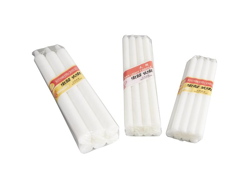 Cheap Price 8 Pack White Color Home Daily Use Household Plain Candles Manufacturer