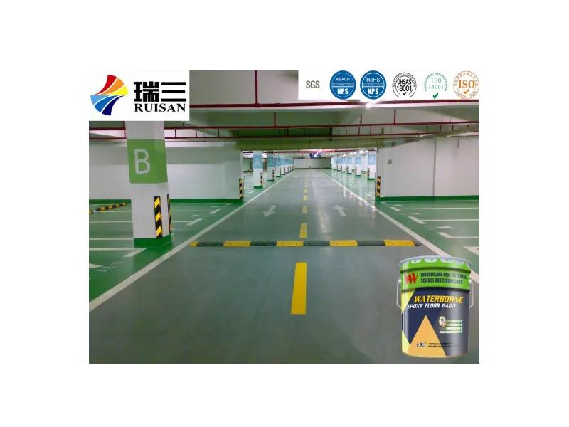 Five Colors Water Based Epoxy Floor Paint Finish for Parking Lots Basement