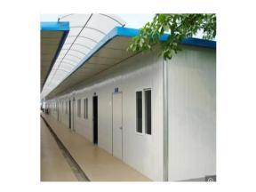Single Slope Roof Sandwich Panel Prefab Steel Frame Labour Living House for Construction Site