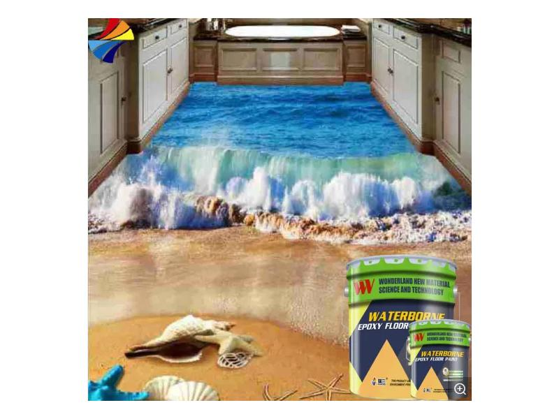 CM-104 Solvent-Free Double Components Epoxy 3D Floor Paint with CE Certificate