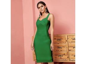 New Summer Party Bodycon Bandage Dress Women V-Neck Sexy Night Out Club Dress