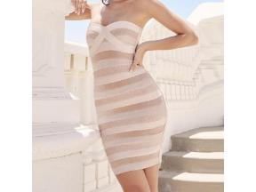 New Fashion Summer Sexy Bodycon Off Shoulder Bandage Dress Women Mini Dress Club Party Dress
