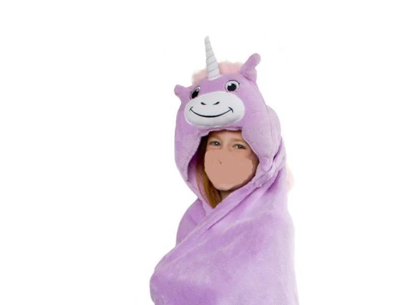 China Comfortable Kids Hooded Wrap Blanket