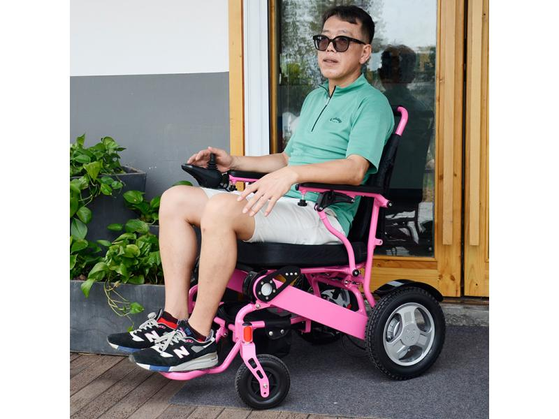 Portable Fold Electric Wheelchair Disabled People