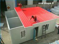 Fast Build Economic Prefabricated Houses Camping Prefab House One Slope Flat Roof