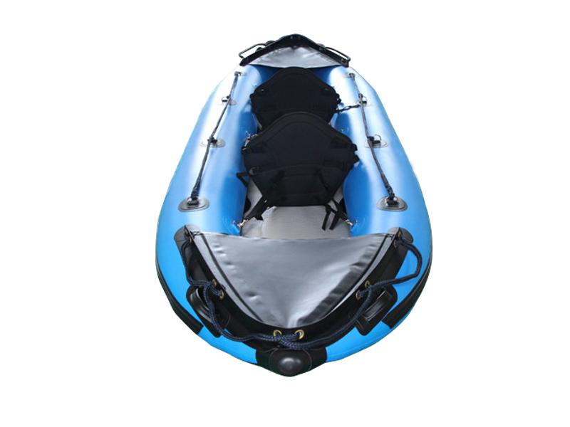 Inflatable PVC/Hypalon White Water Self-Bailing Double Person Kayak