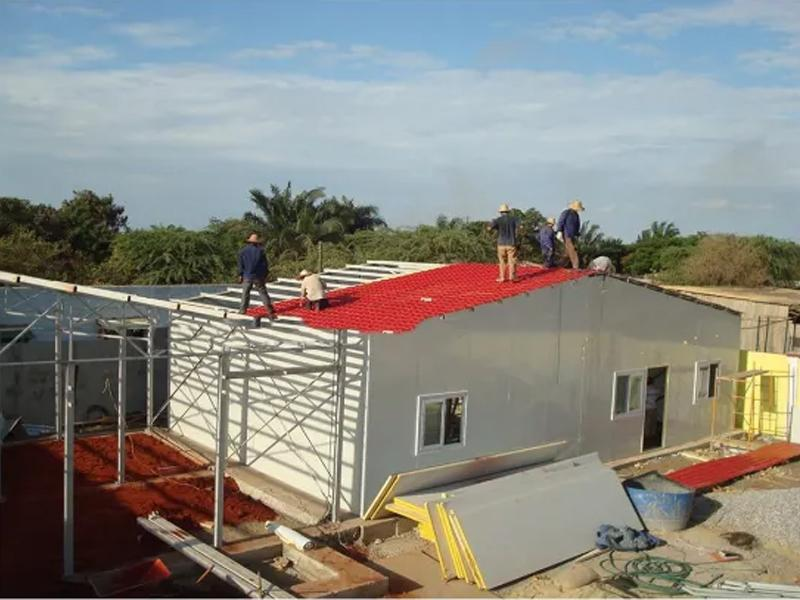 Temporary Worker Dormitory School Safe T Style Prefabricated Houses Portable Steel Integrated Housin