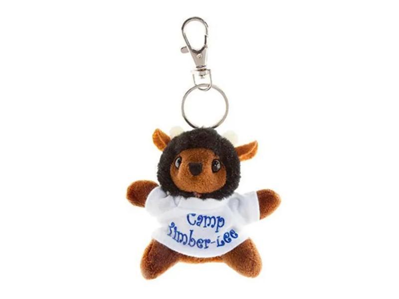 Animal Bee Mascot Toy Custom Plush Keychain, Plush Bee W/T-Shirt Keychain