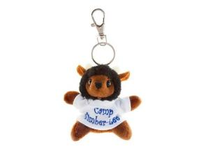 Animal Bee Mascot Toy Custom Plush Keychain, Plush Bee W/T-Shirt Keychain