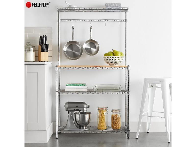 Hot Sale Kitchen 4 Tiers Adjustable Microwave Oven Baker's Metal Wire Rack and Shelves