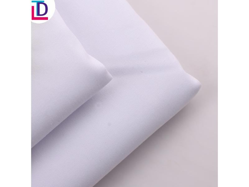 100% Polyester Twill Bleached Fabric