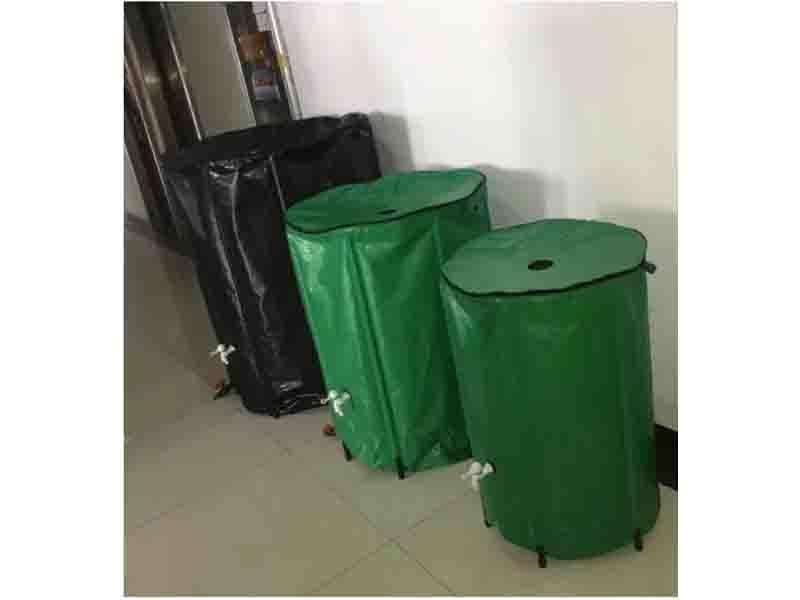 Garden PVC Rainwater Barrel, Collapsible Rain Barrel
