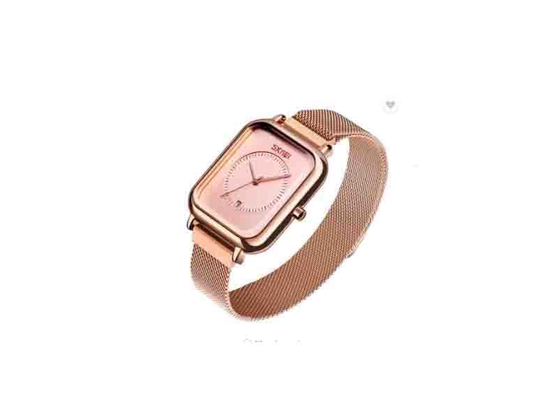 Skmei 9207 Magnet Mesh Jam Tangan Stainless Steel Band Women Luxury Watch with Date