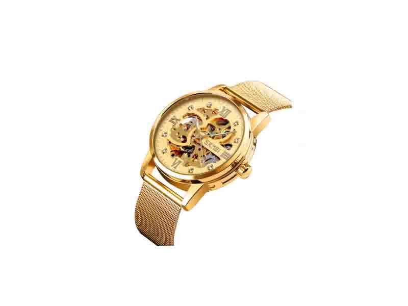 Skmei 9199 Cheap Mechanical Watch 3atm Steel Mechanical Skeleton Watchwatches
