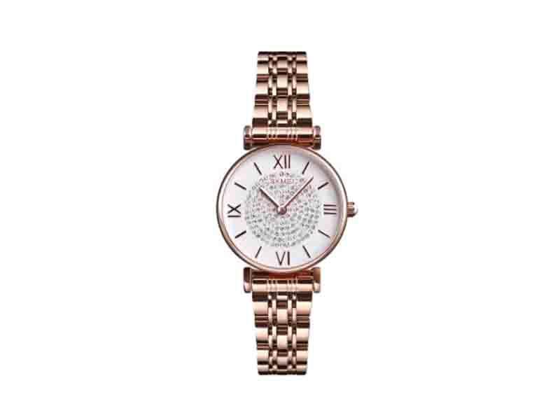 Skmei 1533 Hot Sale Lady Watch Women Quartz Luxury Wrist Watch Diamond Rose Gold Watch