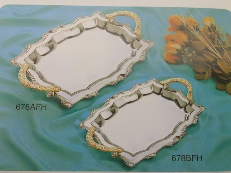 Hardware Products Platter Octagon Tray with Gold Plated Rectangular Tray Candy Tray