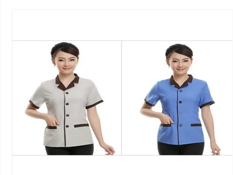 Womens Workwear Cotton Material Hotel Work Clothes