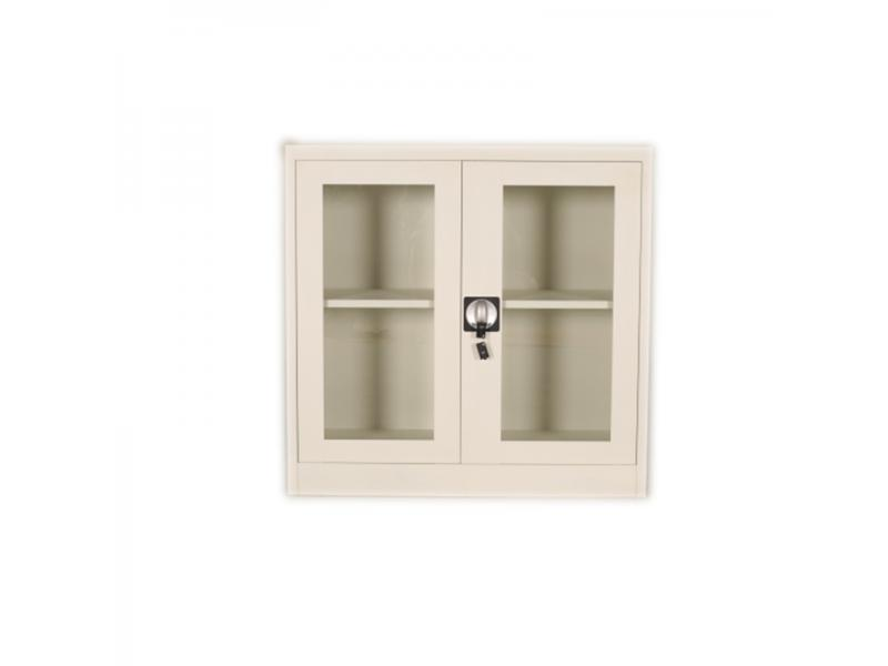 Lockable Glass 2 Door Steel Document Storage Filing Cabinet for Office