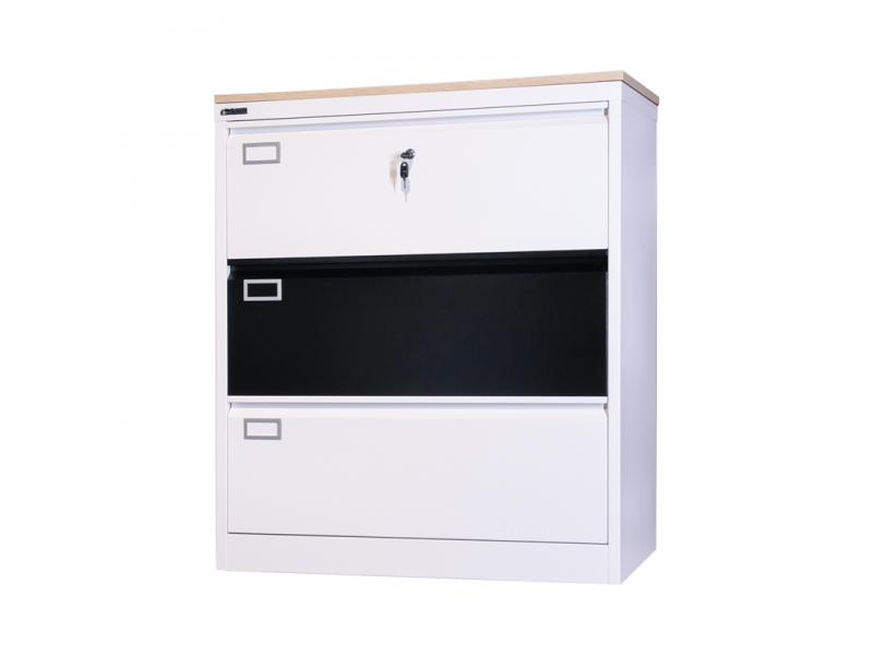 Steel Documents Durable Storage Equipment Files Office Metal 3 Drawer