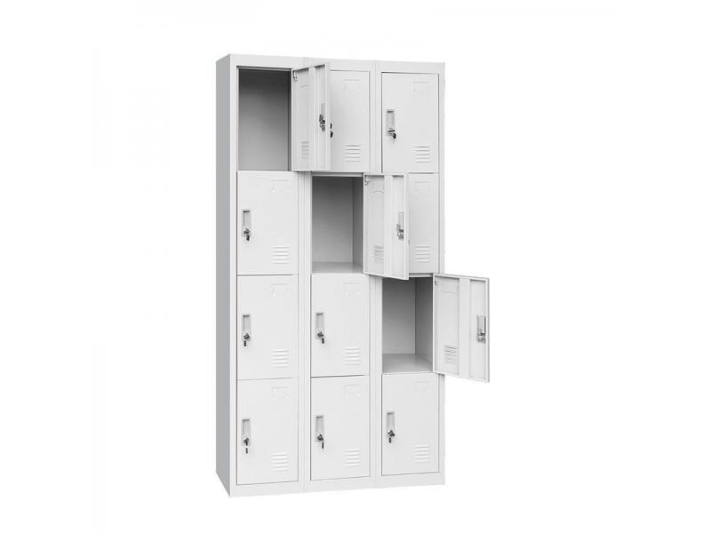 China Luoyang Office Furniture 6 Door Steel Locker Compartment Steel Metal Cabinet