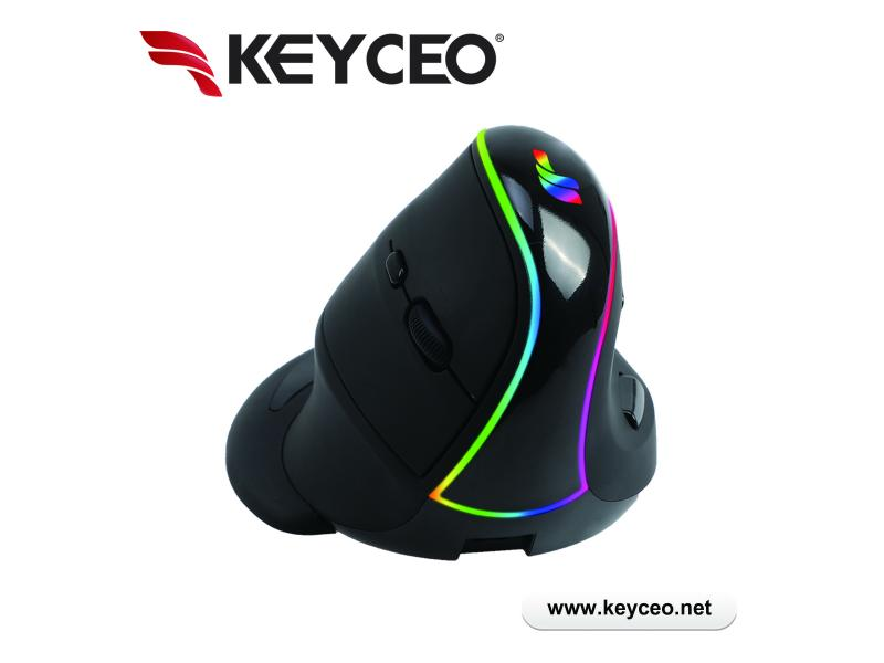 The Newest Optical Ergonomic Wireless Rechargeable RGB Backlit Vertical Mouse