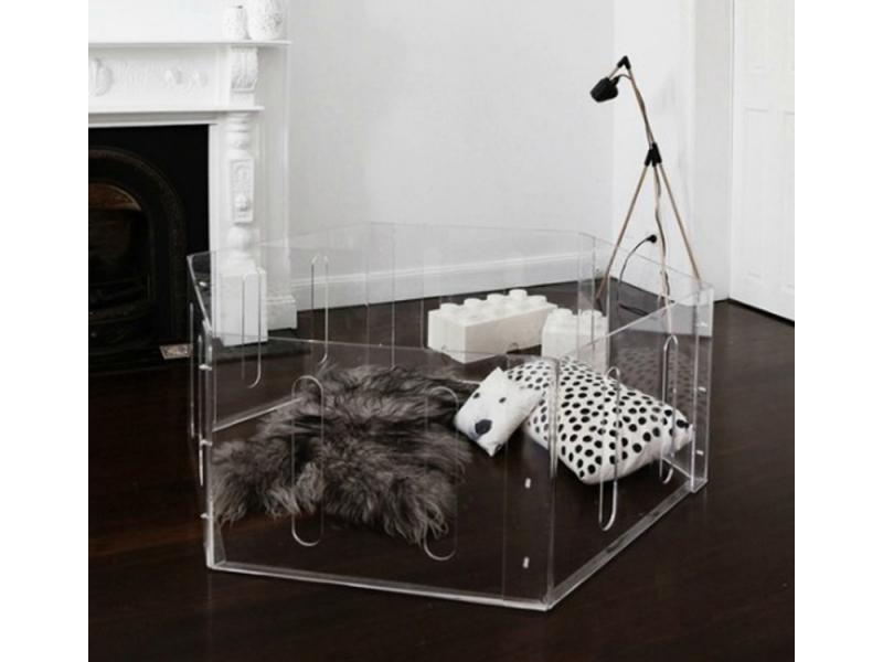 Safely Luxury Lucite Acrylic Baby Playpen