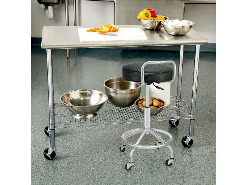 Restaurant Workbench Station Table Rack Stainless Steel Kitchen Catering Storage Equipment Work Tabl