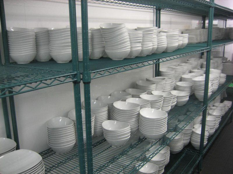 Epoxy Coated Green Wire Steel Restaurant Storage Industrial Dish Drying Rack Shelving Supplier