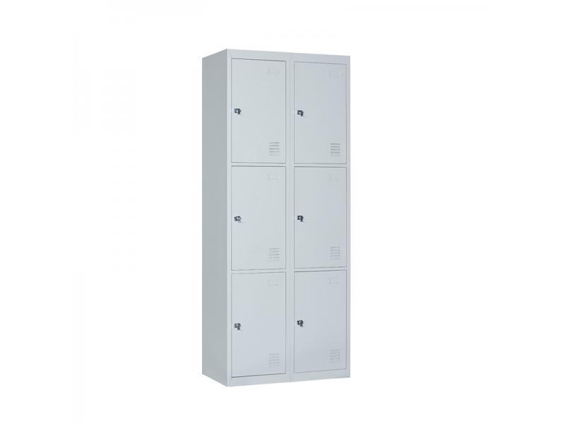 Steel Office Furniture Locker 6 Doors Wardrobe