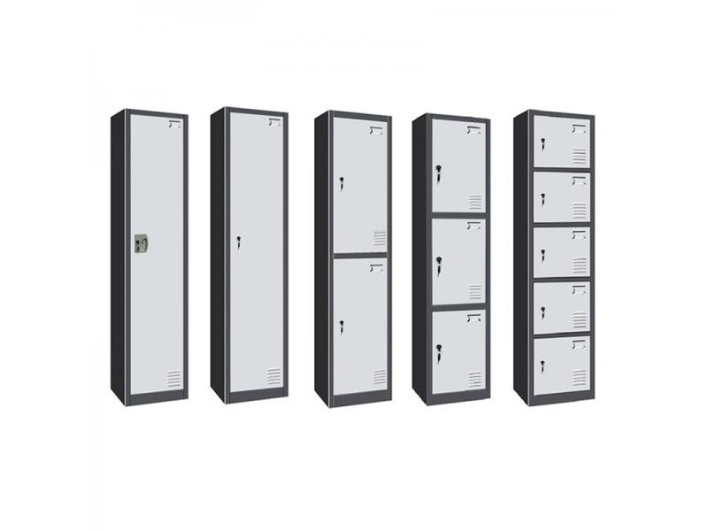 Steel Lockers Furniture Key Lock Clothes Storage Cabinet KD Gym Metal Locker