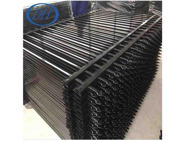 (Suzhou Factory) Cheap Wrought Iron Fence Panels for Sale with Powder Coated