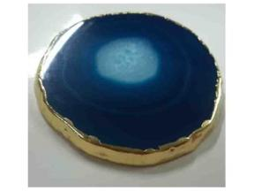 Colorful Agate Coaster with Golden Rims for Coffee Cup(Adding Atmosphere for Life)