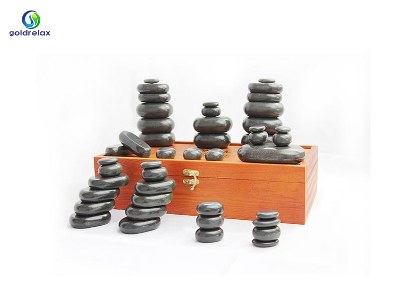 Black Basalt Hot Massage Stone for Massager and Beauty Parlors Wholesaler