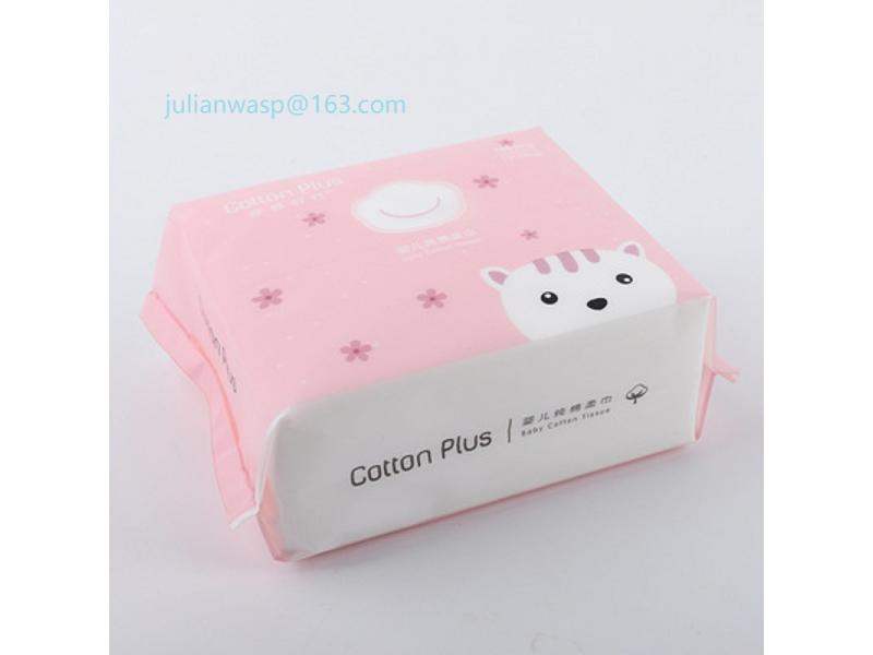 Cotton Baby Tissue/Baby Soft Cotton Towel/Pumping Facial Tissue Paper
