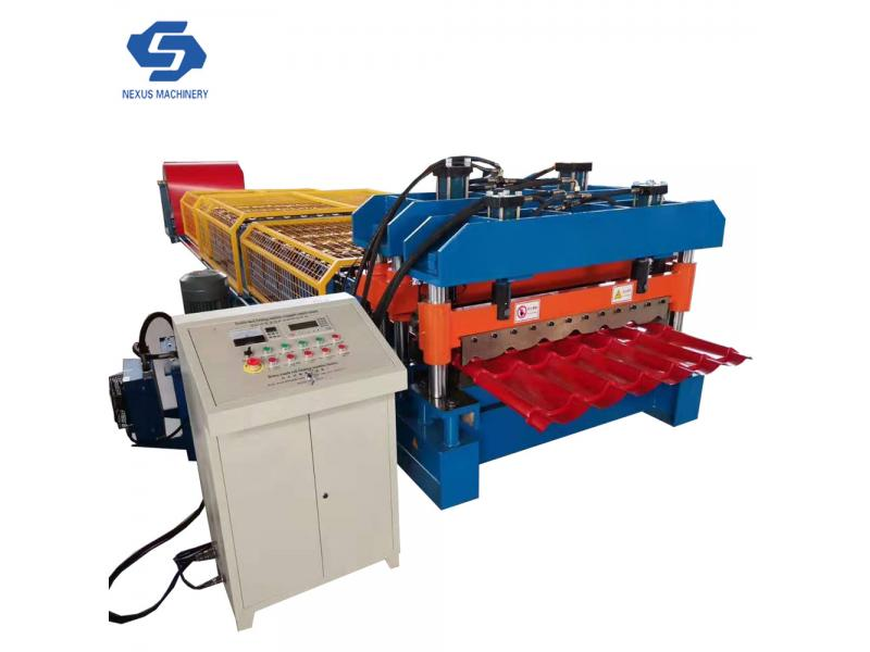 Arc Bias Glazed Roof Tile Sheet Roll Forming Machine