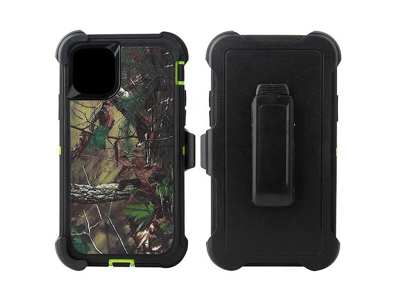 Heavy Duty 3 in 1 Robot Defender Camo Case Mobile Phone Back Cover with Belt Clip for IPhone 11 Pro
