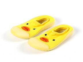 Comfortable Rubber Yellow Duck Toddler Sole Baby Sock Shoes
