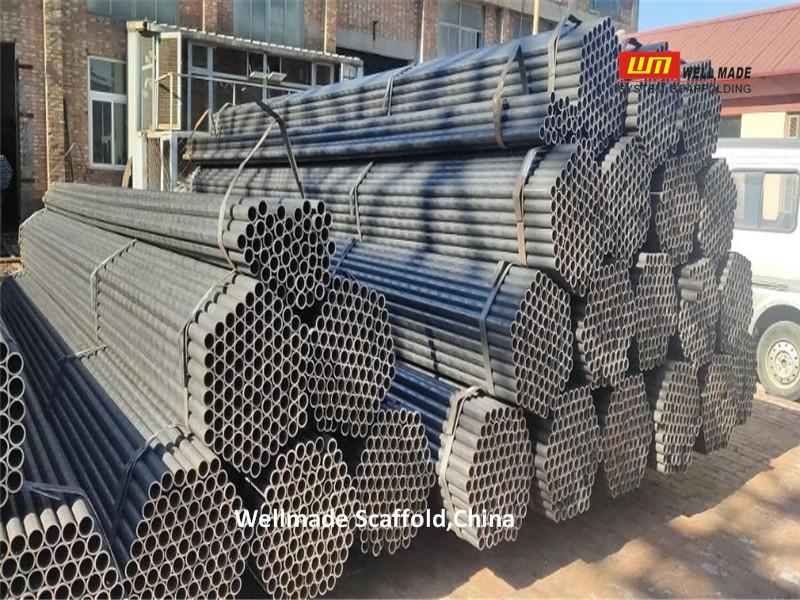 BS1139 Scaffolding Pipes Oil Gas Suspended Industrial Construction Steel Tubes