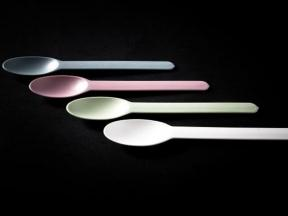 Eco-friendly Frozen Yogurt Spoon Disposable Plastic Yogurt Spoon