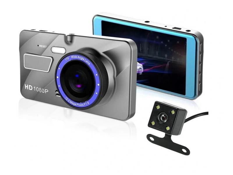 Camera Car Camera IPS Screen Car Blackbox Dash Cam 4 Inch Full HD 1080P Car Camera Waterproof V2