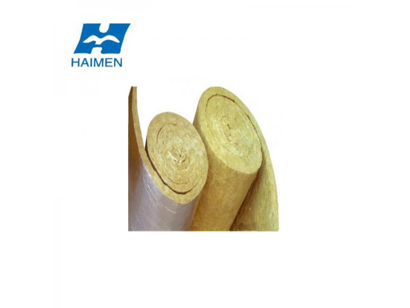 China Manufacture 80kg/M3 Mineral Rock Wool Fireproof Insulation Blanket