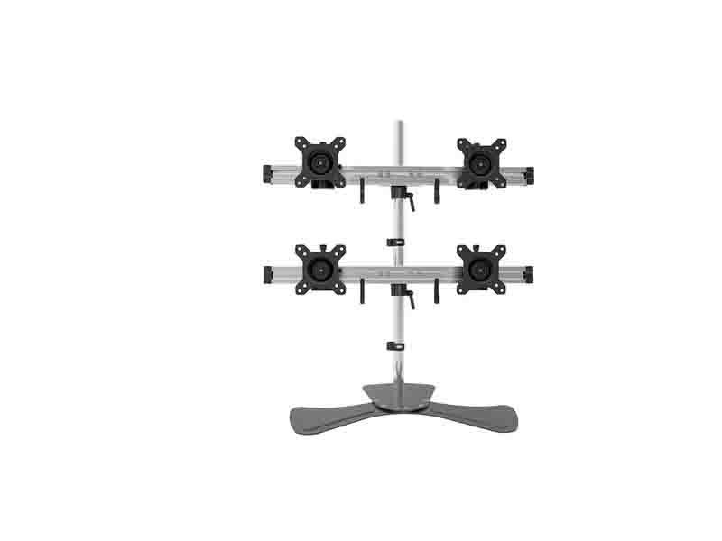 JEO YS-MP240SL 4 Monitor Stand,Monitors Desk Mount,4 Screen Stand