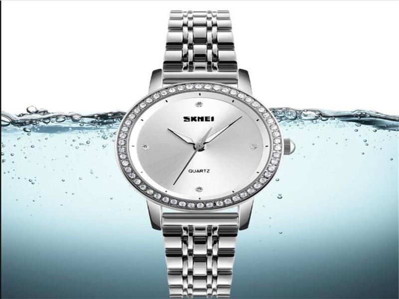 Stainless Gold Women Watch Skmei 1311 Classic Quartz Lady Gift Watches